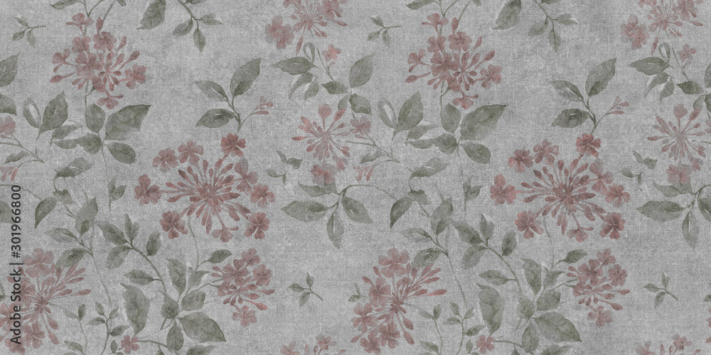 Fototapety, obrazy: seamless floral background with flowers