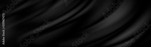 Fototapeta Black luxury fabric background with copy space obraz na płótnie