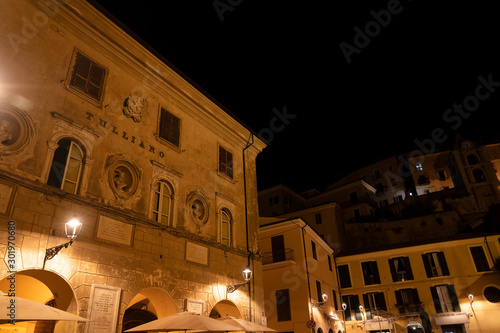 Arpino, Italy, by night Wallpaper Mural