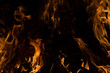 canvas print picture - Fire flame background