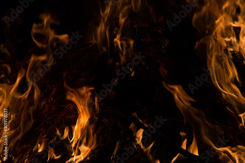 Foto auf AluDibond Feuer / Flamme Fire flame background