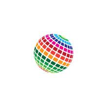 Halftone Logo Vector Icon Desi...