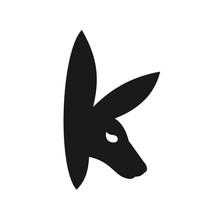 Initial K Logo For Kangaroo Logo Designs