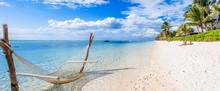 Beach On Tropical Island, Morn...