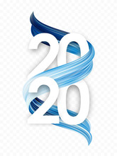 Happy New Year. Number Of 2020...