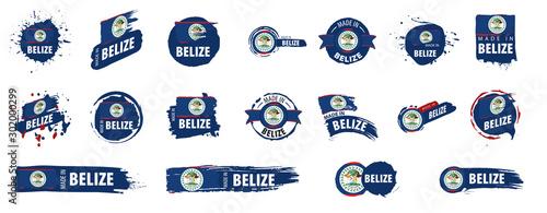 Photo Belize flag, vector illustration on a white background