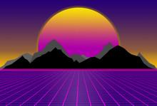 80s Style Sci-fi, Purple Backg...