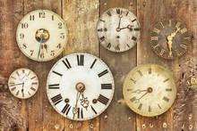 Vintage Clocks Hanging On An O...