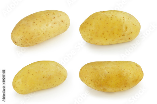 Valokuva  Potato fresh raw material for cooking food isolated on white background