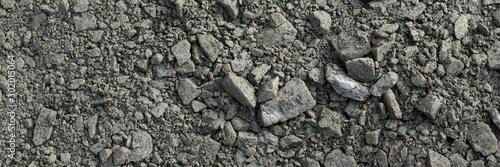 Dark gray gravel stones for the underground in road construction Wallpaper Mural