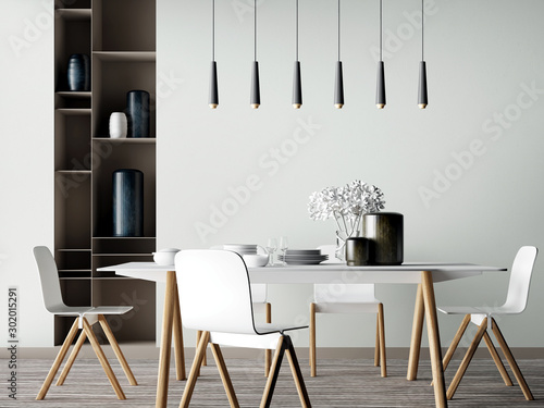 Interior Dining Room Fotobehang