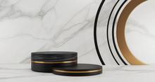 3d Rendering Of Black Marble P...