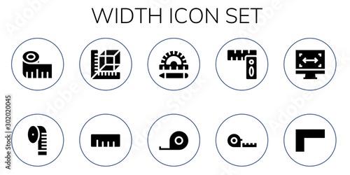 Valokuva width icon set