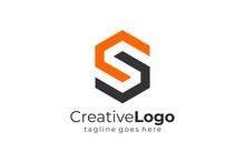 Geometric Letter S Logo Design...