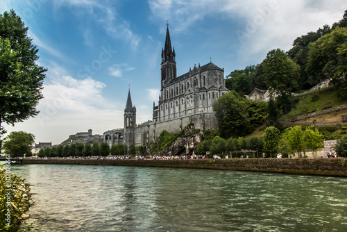 View of the Basilica of Lourdes in France Wallpaper Mural