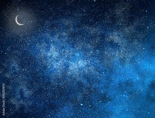 Obraz Night sky with stars as background - fototapety do salonu