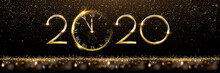 Golden 2020 Number With Watch ...
