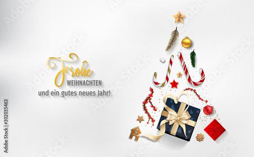 Obraz Weihnachten - Frohe Weihnachten. Weihnachtskarte - fototapety do salonu