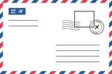 Vintage Air Mail Envelope With...