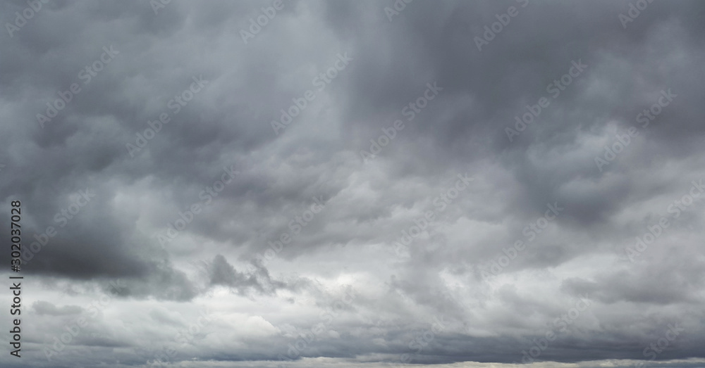 Fototapety, obrazy: gllomy sky with dark gray clouds