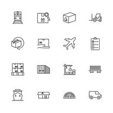 Cargo - Flat Vector Icons