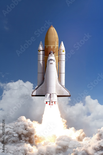 Fotografía  Rocket liftoff. The elements of this image furnished by NASA.