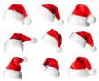 canvas print picture - Santa Claus red hats