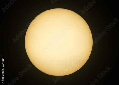Obraz Mercury transits the sun on November 11, 2019. - fototapety do salonu