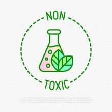 Non Toxic Symbol. Thin Line Ic...