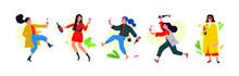 Illustration Of Dancing Girls ...