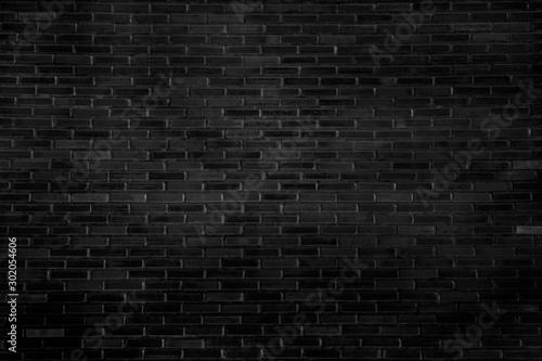 Obraz Abstract black brick wall pattern background and black backdrop, Blank copy space. - fototapety do salonu