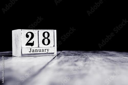 Fotografia, Obraz  January 28th, 28 January, Twenty Eighth of January, calendar month - date or ann