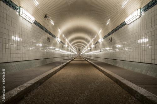 Historic tunnel in Hamburg.