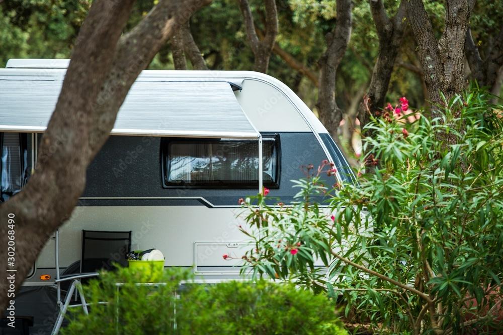Fototapeta Travel Trailer RV Park Spot