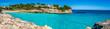 Cala Mendia Strand Urlaub Panorama Meerblick Sommer Ferien