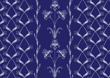 Iris Flower. Imitation Of Trad...