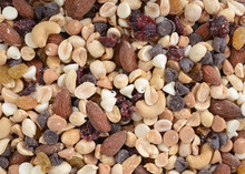 Organic Trail Mix In A Pile