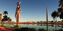 Hathor Statue In Egypt - Hatho...
