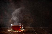 Cup Of Hot Tea With A Steam On...