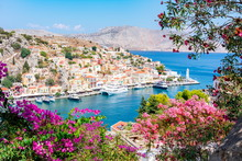 Symi Town Cityscape, Dodecanes...
