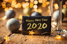 Happy New Year 2020  -  Greeting Card  -  Silvester Party