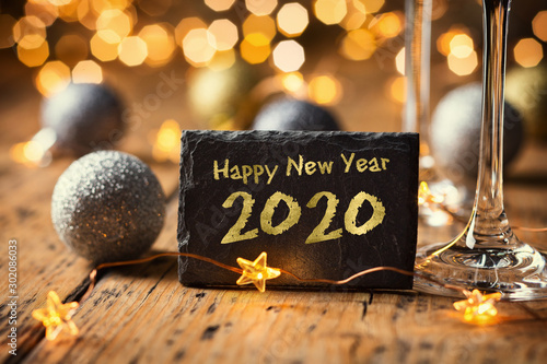 Obraz Happy New Year 2020  -  Greeting Card  -  Silvester Party - fototapety do salonu