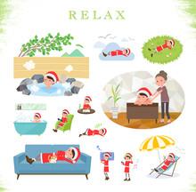 Flat Type Santa Claus Costume Mom_relax