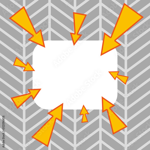 Fototapeta Asymmetrical uneven shaped format pattern object outline multicolour design Copy Space design Empty template text for Ad, promotion, poster, flyer, web banner, article obraz na płótnie