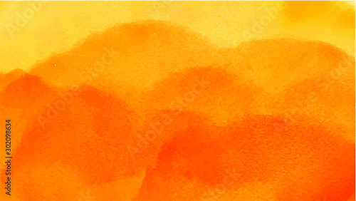 Orange watercolor background for your design, watercolor background concept, vector. - 302098634