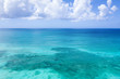 Caribbean sea. Aerial view from drone