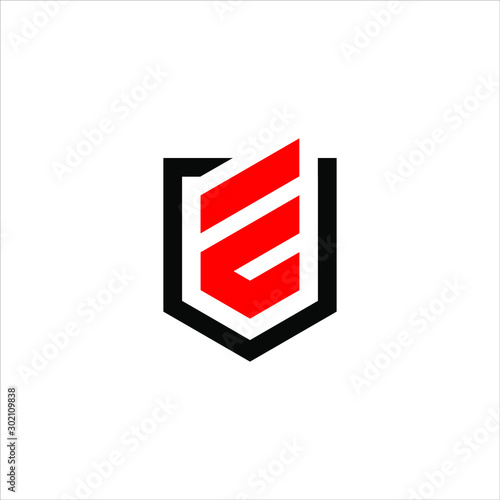 e shield logo Wallpaper Mural