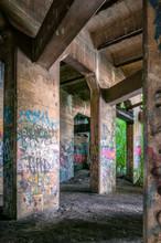 Graffiti Covered Old Coal Pier...