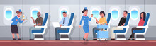 Flight Attendants Serving Mix ...