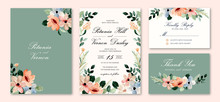 Wedding Invitation Set With Bl...